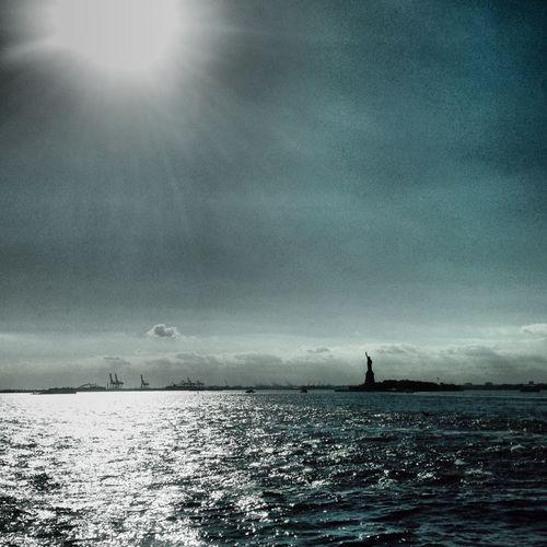 Statue Of Liberty New York Harbor Sunshine Boats Summer IPhoneography Lot71camera
