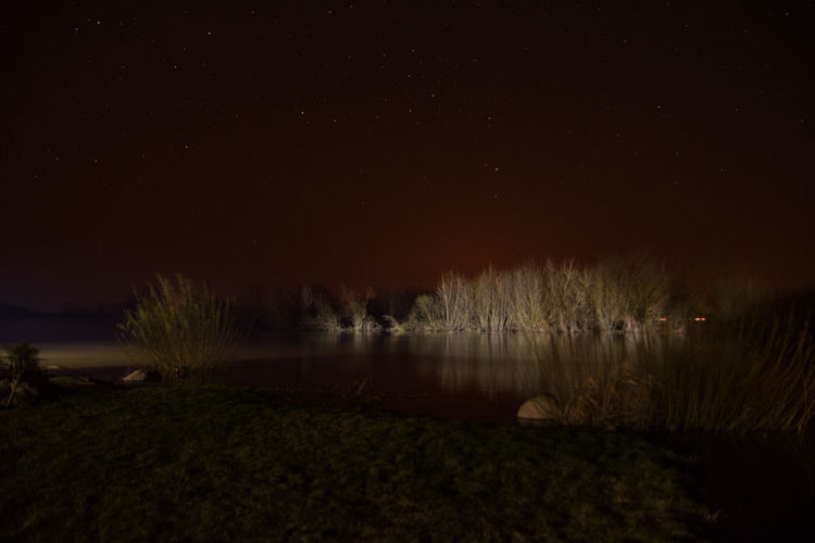 Nightphotography Poland Nature Night Nightsky No People Outdoors Rozlewiska Sky Star - Space Water