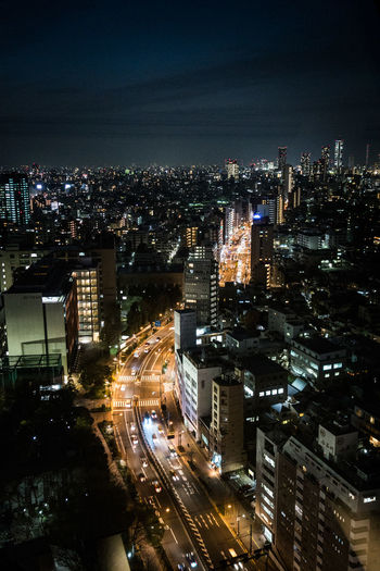 Aerial View Architecture Building Exterior Built Structure City City Life Cityscape Crowded High Angle View Illuminated Modern Night Office Building Residential Building Residential District Sky Skyscraper Tall - High Tokyo Tower Urban Skyline