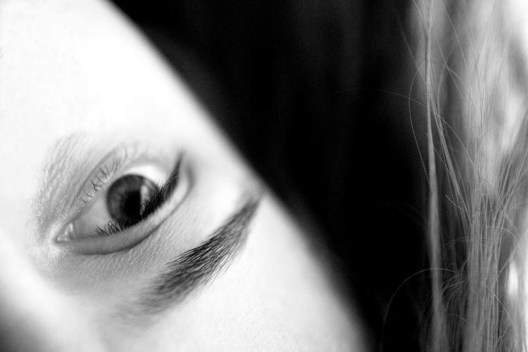 Close-up of women eye