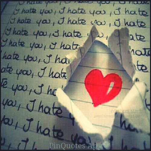 There Awlays A Little Bit Of Love In Your Hate(: