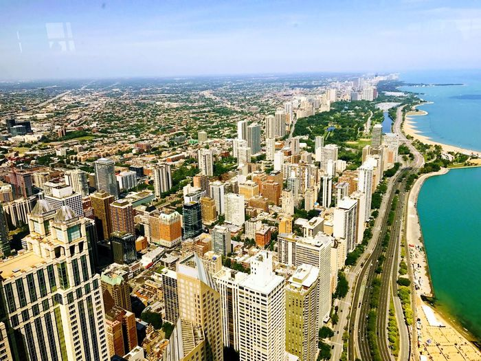Cityscape Architecture City Crowded Building Exterior Skyscraper Aerial View Sky Sea Built Structure Travel Destinations Day Modern Outdoors Water Nature Chicago Illinois Chicago Architecture Chicago Chicago Skyline Chicago River Chicagoshots Chicago