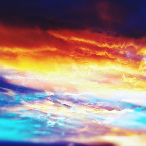 Sunset Sky Cloud - Sky Sunset Sky Beauty In Nature Nature Orange Color Scenics Dramatic Sky No People Tranquility Cloudscape Outdoors Backgrounds Sky Only Power In Nature Astronomy Day