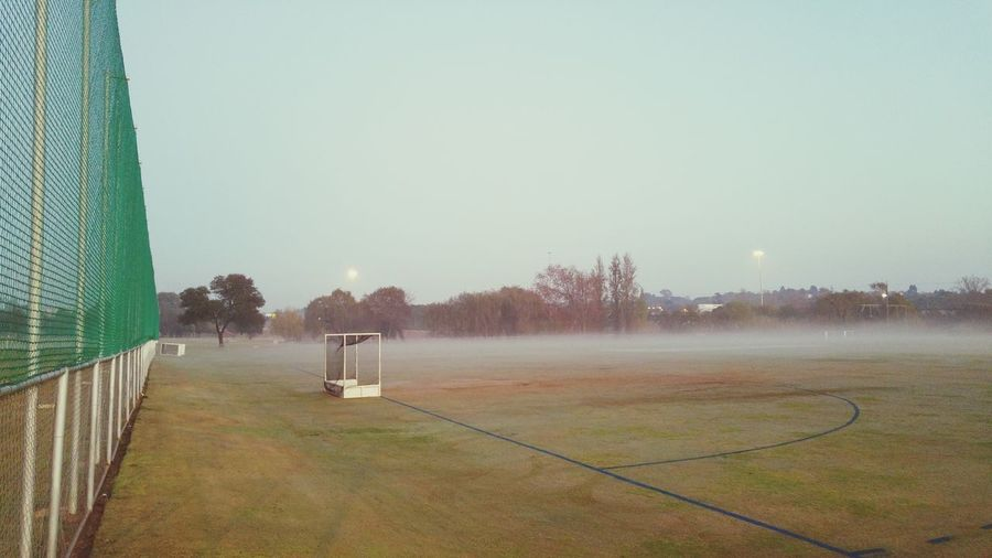 Fresh Air... Misty Morning Misty Mornings Just Before Sunrise Early Morning Walk... South Africa Outdoors Early Morning Wintertime Outdoor Photography Hockey Hockey Field