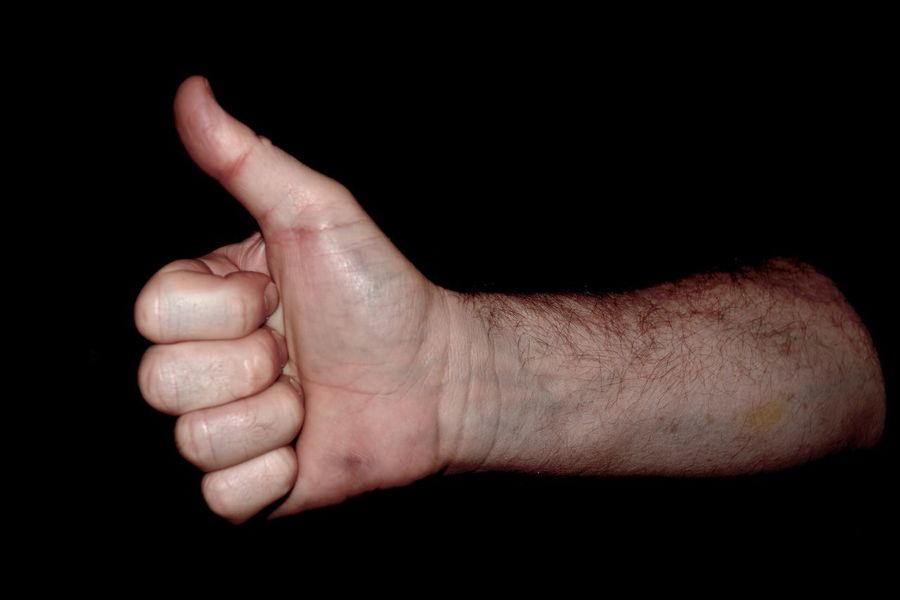 Positive Well Done  Adult Adult Hand Adult Hands Black Background Close-up Gesturing Good Hand Human Body Part Human Finger Human Hand One Person Studio Shot Thumbs Thumbs Up Thumbsup