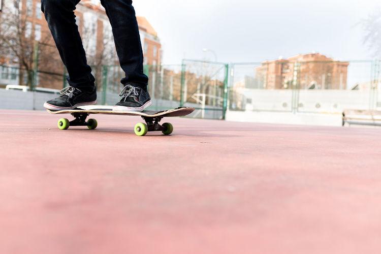 Man doing Skate on the Street City Europe Lifestyles Man Outdoors Skateboard Skateboarder Skateboarding Skater Skating Street Trick
