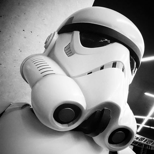 Stormtrooper . Starwarsrebels Starwars Rebels in the StarWarsIdentitis Exhibition . At the Olympiapark . Munich München Bayern Bavaria Deutschland Germany . Taken by my SonyQx30 Sony Qx30 . معرض ستار_وورز ميونخ بافاريا المانيا .