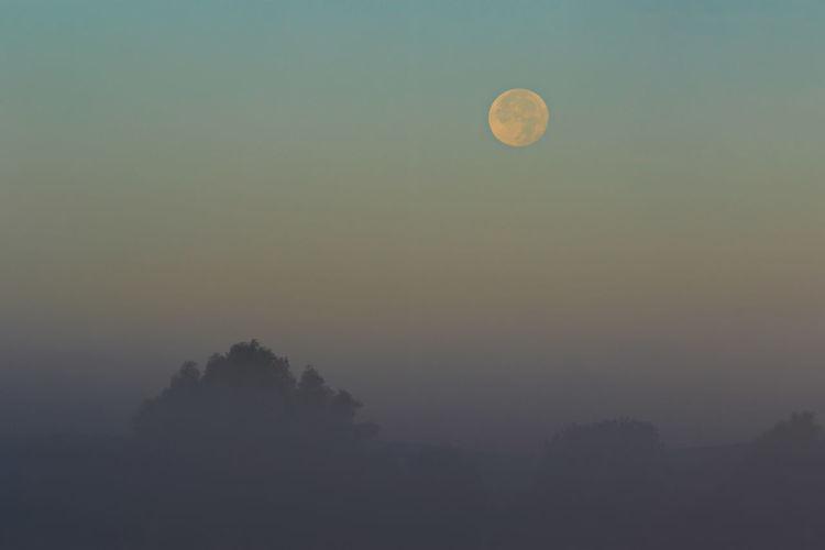 Full moon on a