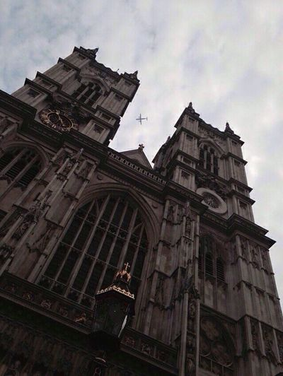 Architecture Building Exterior Built Structure Low Angle View Religion Place Of Worship Sky Spirituality No People History Outdoors Day Rose Window England London Amazing Airplane Fly City First Eyeem Photo