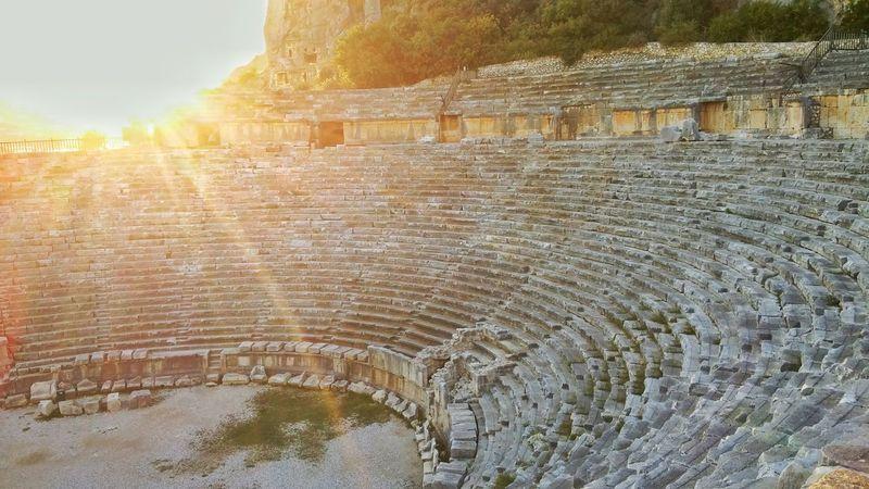 No People Outdoors Architecture Ancient Day Built Structure Nature Ancient Civilization Demreantalya Myra Ancient Theatre Antalya Turkey WeekOnEyeEm Paint The Town Yellow