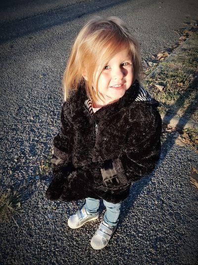 >> La plus belle des petites fille c'est toi ma Princesse ❤️👸 Princesse Sharon Veste Froid Portrait Child Childhood Smiling Full Length Puddle Looking At Camera Water Happiness Cute