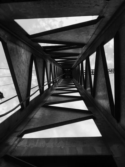 🏳️🏴 Architecture Built Structure Direction Indoors  No People The Way Forward Day Bridge Ceiling Diminishing Perspective Connection Sunlight Nature Architectural Column Transportation Shadow Empty Wood - Material Railing Underneath