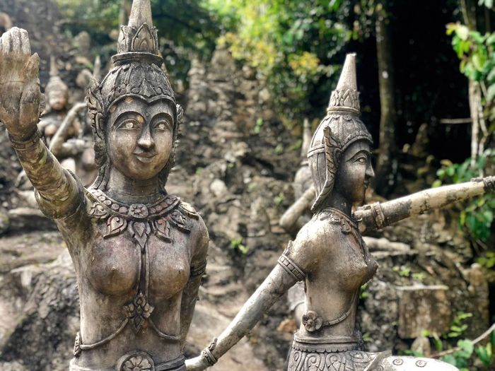 Magic garden Religion Art And Craft Statue Sculpture Human Representation Belief Representation Place Of Worship Male Likeness No People Architecture Ancient Tourism Building Day Spirituality Old Outdoors