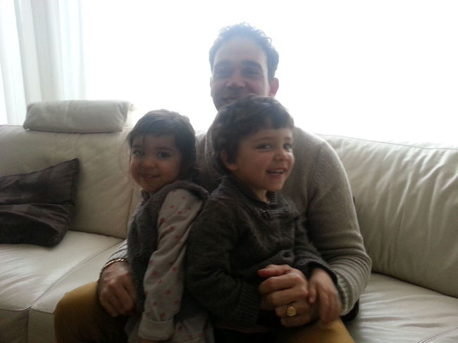 Bezoek van mijn neef en zijn kinderen Gezelligheid Familie