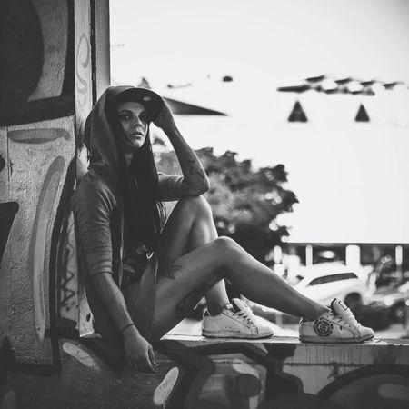 A shot from an abandoned warehouse with model Nakita J Portrait AMPt - Abandon EyeEm Best Shots Blackandwhite