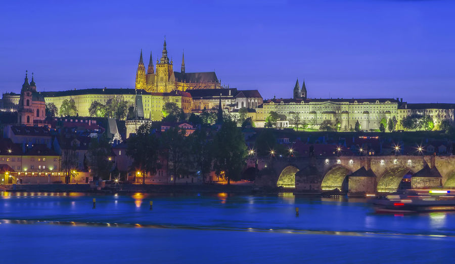 Blue Capital Cities  City City Life History Night Prague Sky Water