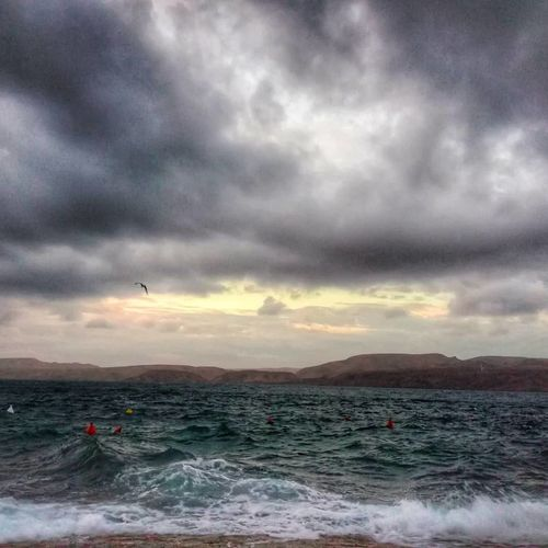 Kaobag Sea Dance Weather Amazing Coffie Time Croatia Karlobag Sunset Cloud - Sky Dramatic Sky Flying Sky Bird Sea Multi Colored Motion Beauty In Nature Scenics Outdoors Vacations Landscape Mountain Travel Destinations No People Animal Themes Storm Cloud Nature
