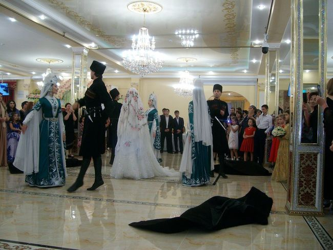 Karachay wedding2 Event Wedding Group Of People Illuminated Indoors  Large Group Of People Adult National Style National Wedding Real People Wedding Ceremony Wedding Day Wedding Dress Women