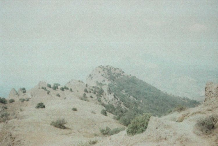 35mm Authentic Crimea EyeEm Best Edits EyeEm Best Shots EyeEm Nature Lover Film Geology Idyllic Landscape Majestic Mountain Mountain Range Nature No People Outdoors Rock Formation Sky Unusual Weather Wildness Zenit
