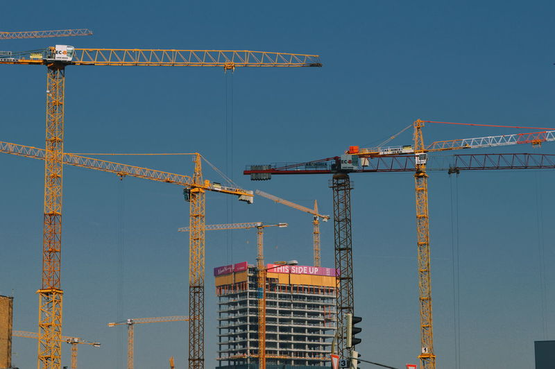Under Construction... Urban Development Urban Urban Perspectives Urban Photography City City Cityscape Girder Progress Construction Frame Industry Clear Sky Business Construction Equipment Incomplete Construction Machinery Crane Office Building My Best Photo