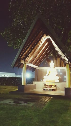 Night Star - Space Illuminated Space Arts Culture And Entertainment No People Outdoors Buddha Temple Religious Art Religious Architecture
