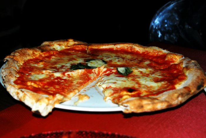 Delicious Huge Italian Pizza Yummy Food Real Pizza Italia Good Appetite  Restaurant Dinner Time Italian Restaurant