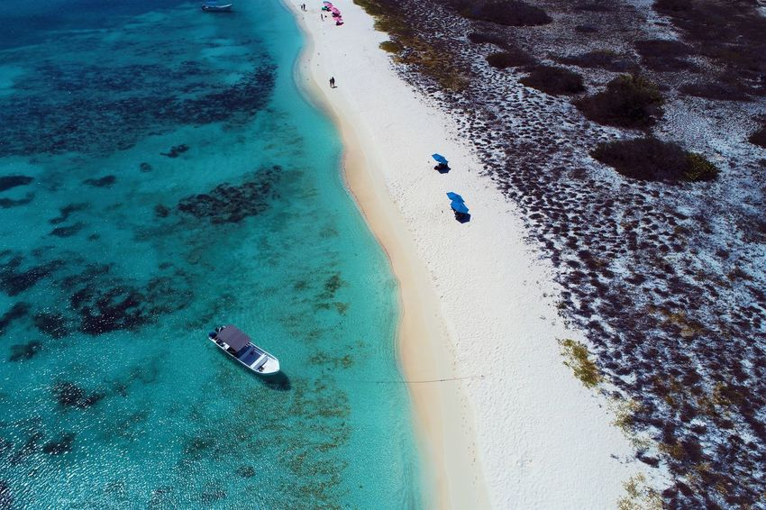 Aerial view of island and beach in Los Roques, Venezuela Water Beach Land Sea High Angle View Sand Nature Scenics - Nature Day Sport Aerial View Beauty In Nature Tranquility Tranquil Scene Aquatic Sport Outdoors Idyllic No People Coastline Turquoise Colored Los Roques Madrisqui Caribe Caribbean Caribbean Life Caribbean Island Francisqui Crasqui Carenero's Beach Cayo De Agua Venezuela