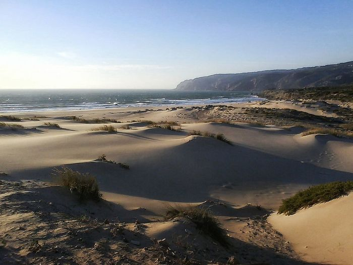 Guincho, Portugal Dunescape Atlantic Ocean Sea And Waves Portugal_de_sonho Summer Time  Beach