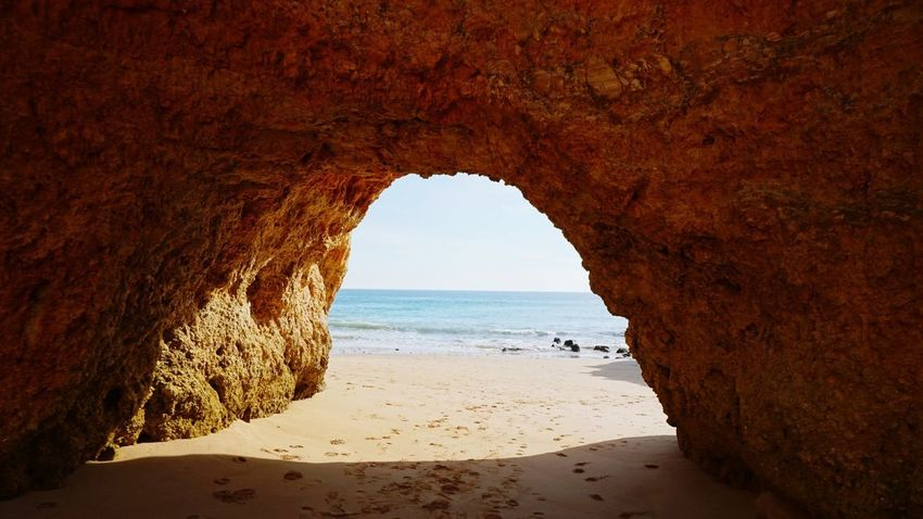 Favorite Color With Love Sonyalpha With Him Sony Winter Portugal Alvor Sonya5100 Sonyforher Love Beach Sea Sand Horizon Over Water Nature Vacations Rock Formation Rock - Object Natural Arch Scenics Beauty In Nature Wave Red Outdoors Travel Destinations No People Cliff Landscape Water Sunset