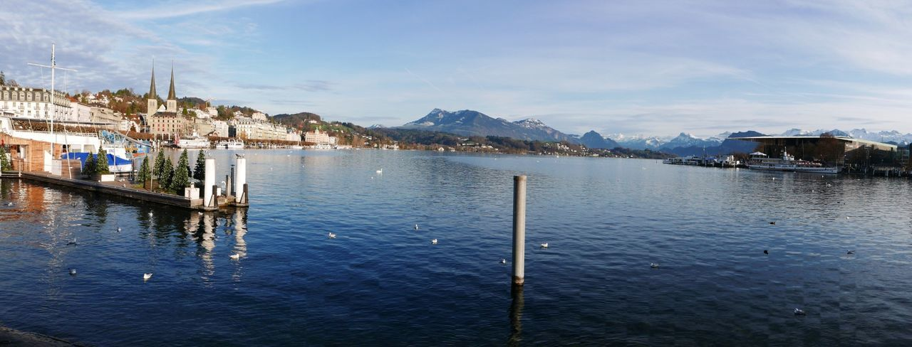 Lake Lake View Panorama Luzern Starting A Trip How's The Weather Today? Colors Holidays Holiday See