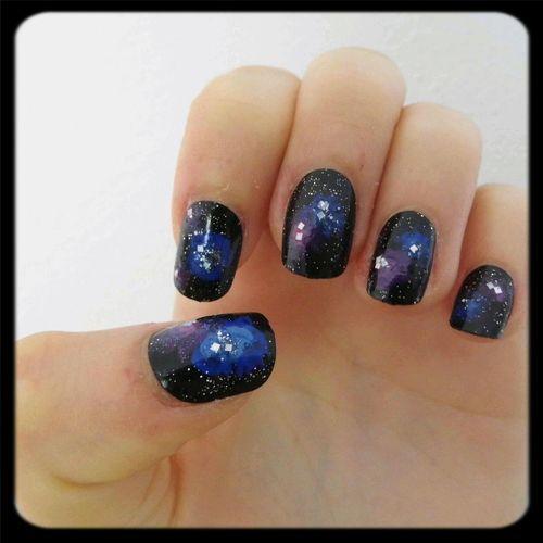 Nails Galaxy Galaxy Nails Beautiful