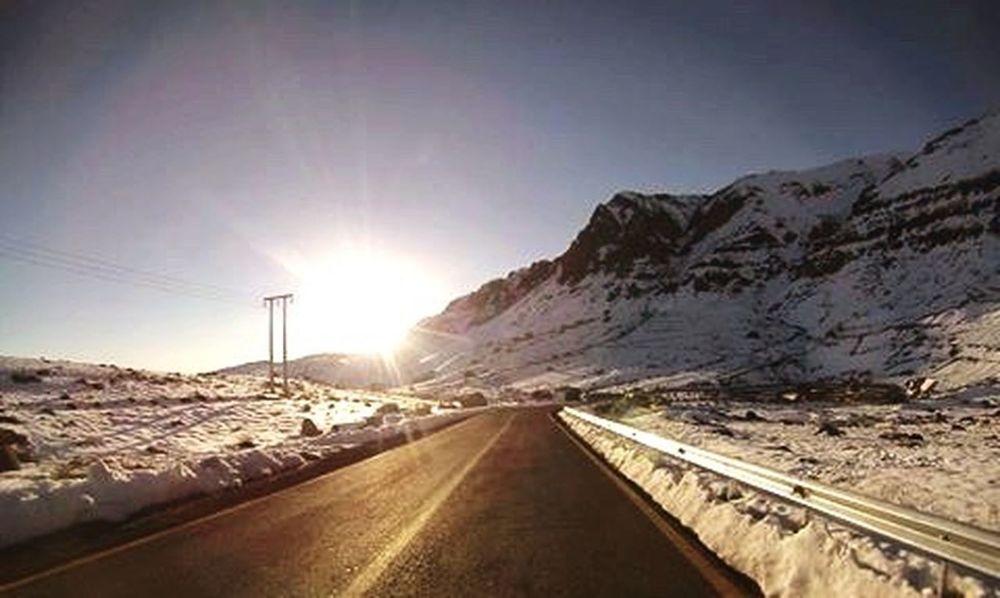 Bajando de Valle Nevado