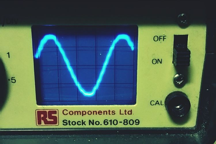 Oscilloscope wave sine Illuminated Low Angle View Speed Information Blurred Motion Man Made Object Vibrant Colors