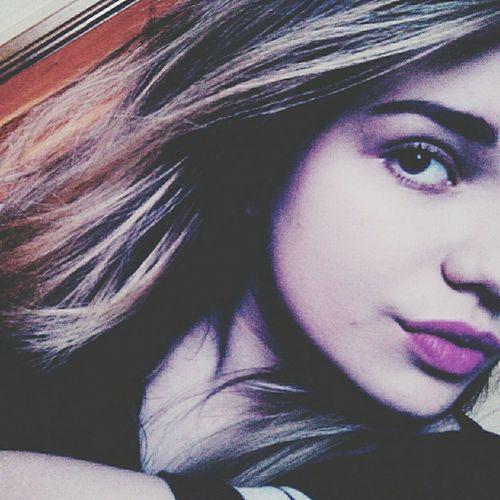 Pretty Girl Fashion&love&beauty Me Face Make Up Lips Makeup Half Face Purple Lipstick Purple Lips