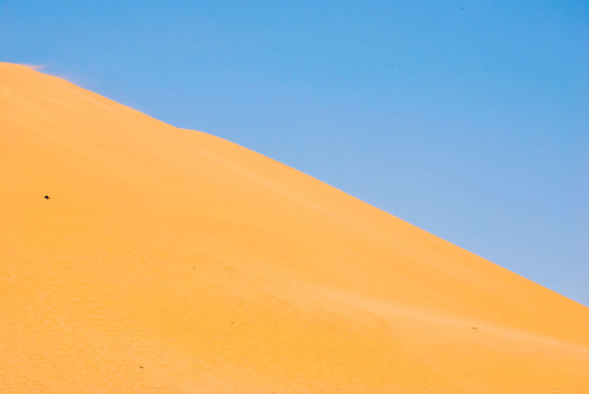 Arid Climate Beauty In Nature Blue Clear Sky Day Desert Extreme Terrain Landscape Nature No People Outdoors Sand Sand Dune Scenics Sky Tranquil Scene Tranquility EyeEm Ready