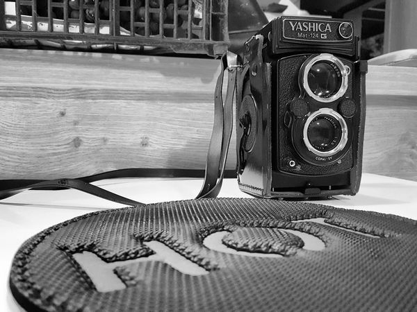 Old-fashioned Yashica Mat 124 Blackandwhite Film Photography