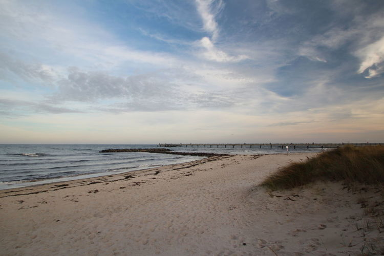 Beach mood Sky Beach Water Sea Scenics - Nature Cloud - Sky Land Beauty In Nature Sand Tranquil Scene Tranquility Horizon Over Water Horizon Sunset Nature No People Non-urban Scene Idyllic Outdoors Marram Grass