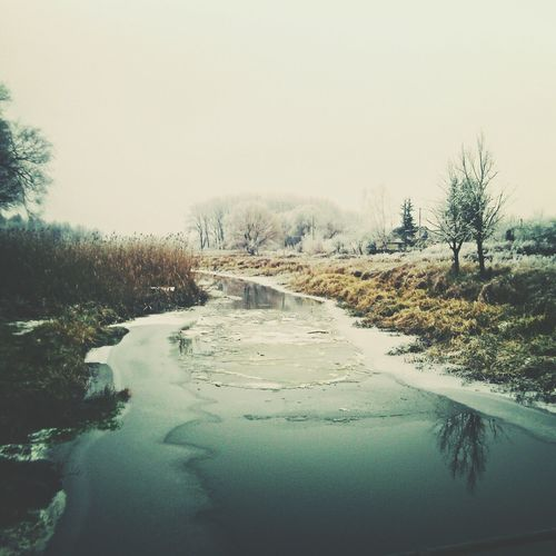 Reflection Water Road Nature Outdoors No People Landscape Tree Day Sky Scenics Beauty In Nature
