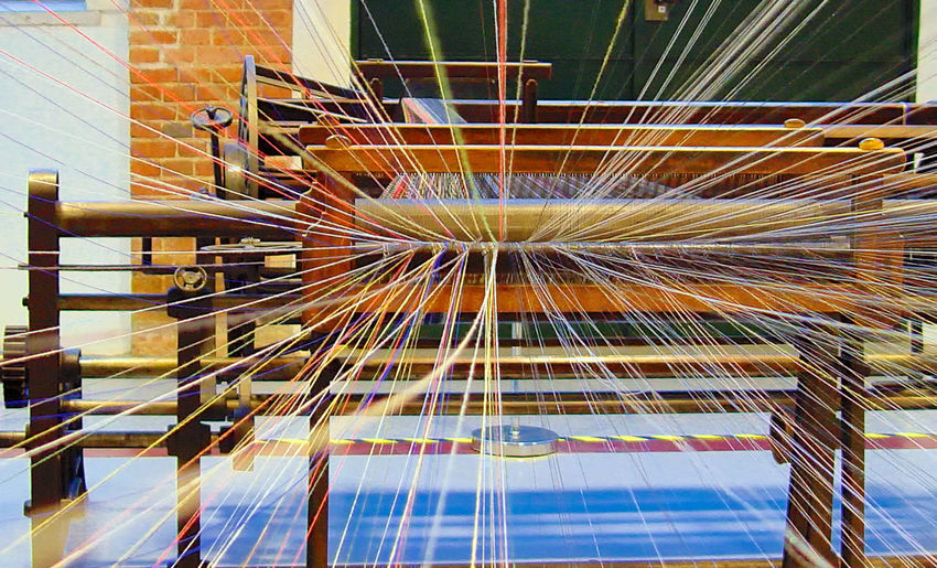 Colored Thread Colors Day Indoors  Industry Machinery No People Technology Threads