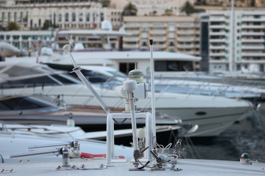 Boat City Day Focus On Foreground Harbor Mast Mode Of Transport Montecarlo Nautical Vessel Outdoors Port Monaco Selective Focus Stationary