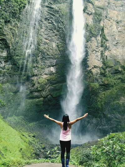 More than 2 hours hiking to get to this beautiful waterfall! Third tallest of the world! Gocta Falls 💪 Nature Water Outdoors Adventure Waterfall Women Around The World Hiking Mountain EyeEmNewHere Gocta Falls Peruvian Jungle Chachapoyas Beauty In Nature Peru Jungle Nature Lost In The Landscape Second Acts