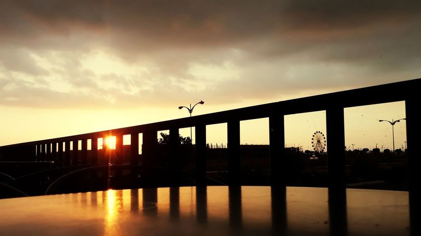 Bridge - Man Made Structure Sunset Built Structure Architecture Transportation Outdoors Silhouette