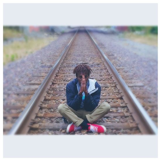 Crisscross train tracks Train Tracks That's Me Check This Out Hanging Out Taking Photos PraiseGod Model Photographer Followme Nice Like Dopephotography DOPE Photography Enjoying Life Modeling Pray PhonePhotography Dreads Taking Photos Eyes Watching You