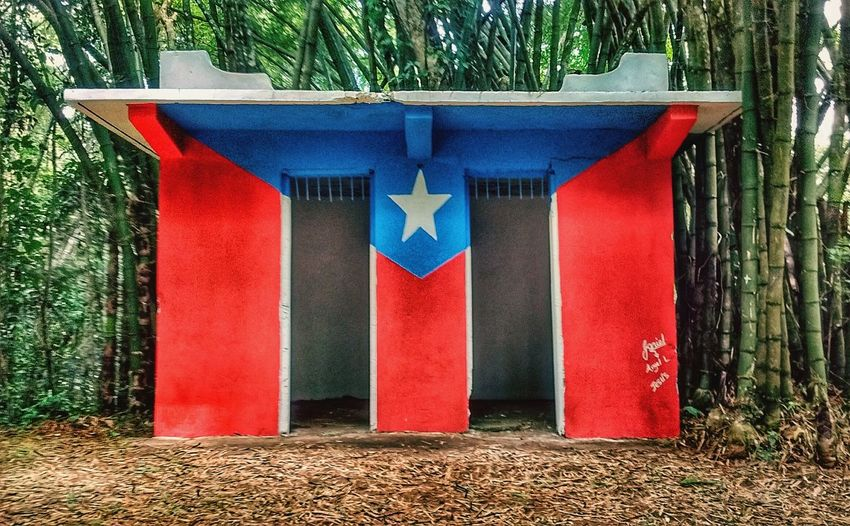 Red No People Outdoors Blue Day Architecture Tree Puerto Rico Puertoricanflag Puerto Rican Eye