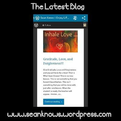 SeanKnows Love Forgiveness Gratitude