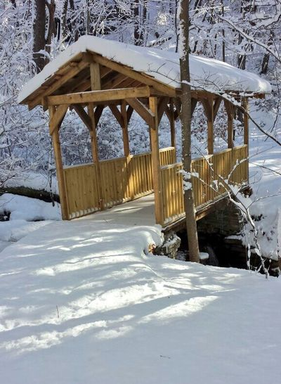 Winter Snow Cold Temperature Built Structure Beach Architecture Bridge - Man Made Structure Architectural Column Outdoors Day Sunlight Nature No People Tennessee Mountains