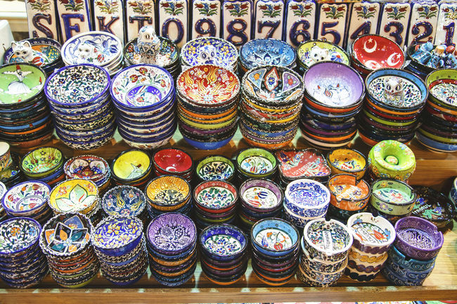 Choise Close-up Container Decoration Directly Above Dish Dishes Grand Bazaar Grand Bazar Istanbul Istanbul Large Group Of Objects Plate Still Life Turkey Variation VSCO Vscocam