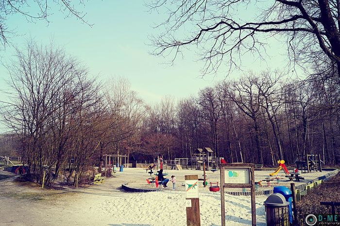 Playground Sand Sky And Trees Enjoying Life Relaxing D-ME Photography Taking Photos Nature Discover Your City Haspengouw