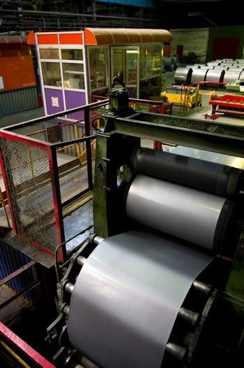 Russia, Yekaterinburg, Upper Iset plant, manufacture of steel sheet Arrangement Day Empty Machine Part Machinery No People Russia, Yekaterinburg, Upper Iset Plant, Manufacture Of Steel Sheet Seat Stationary