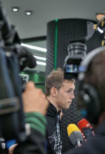 Headshot Indoors  Football, Soccer Dzyuba Interview Russian National Football Team